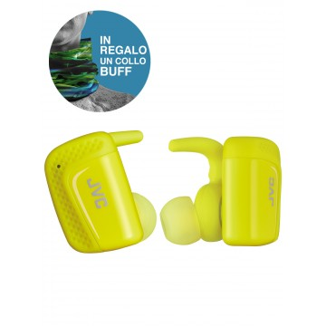 JVC Cuffie Intrauricolari Bluetooth Truly Wireless sportive HA-ET90BT-BE Serie AE collo