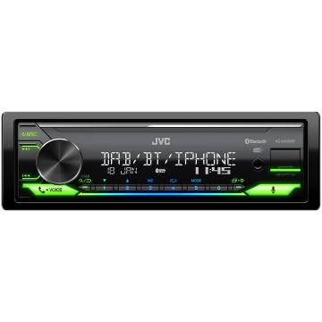 JVC KD-X472DBT. Digital Media Receiver compatibile con  Amazon Alexa . Dotato di tuner sia analogico che digitale DAB+ , versatile e funzionale grazie agli ingressi USB/AUX frontali  e con colorazione variabile, per meglio adattarsi a tutti i gu