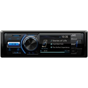 "JVC KD-X561DBT Autoradio mechaless con monitor da 3.0"" , Built-In DAB Tuner and Built-in e Bluetooth® Wireless Technology per viva voce e streaming audio"